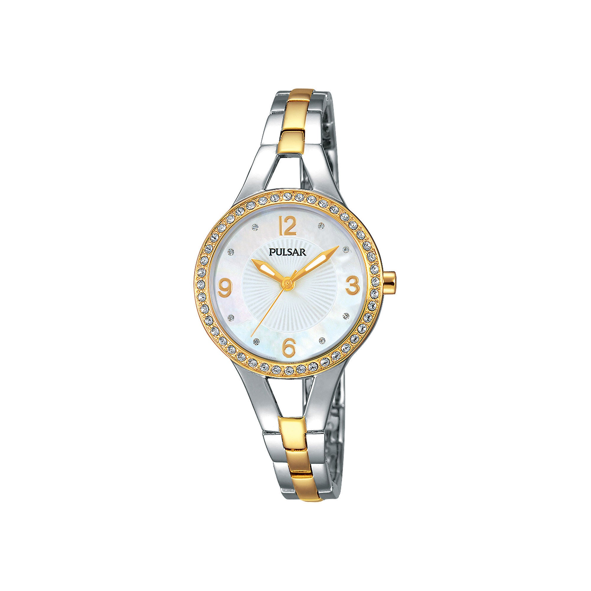 PULSAR Women's PH8120 Two-tone Bracelet Mother-of-pearl D...