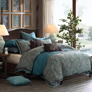 Hampton Hill Lauren Blue Comforter Set
