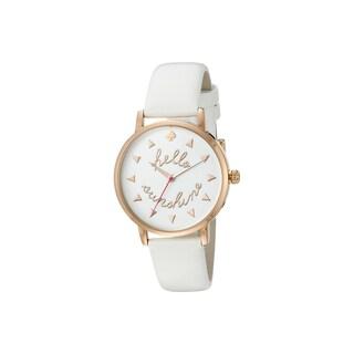 Kate Spade Women's KSW1089 Metro White Leather Strap Quartz Watch