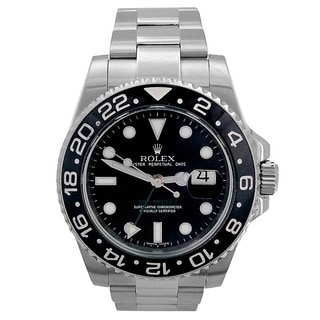 Rolex Mater II Pre-owned Black/Silver Stainless Steel 40-millimeter Watch