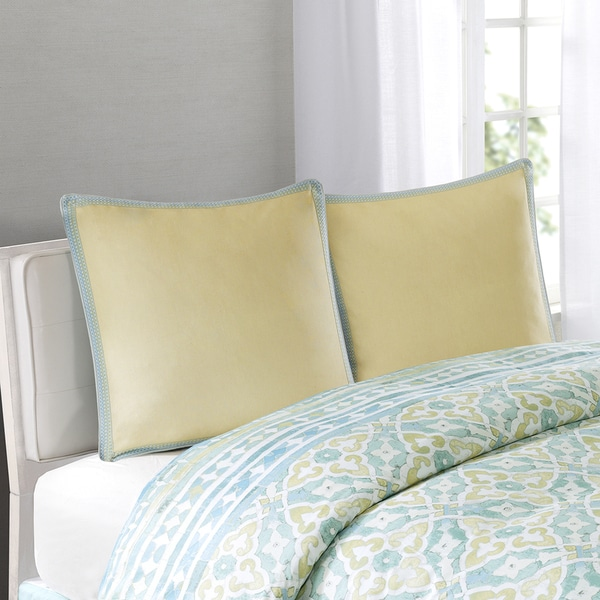 Echo Design™ Lagos Yellow Cotton Euro Sham