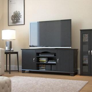 Gibson Living Cabana 60-inch Adjustable Shelving Black TV Mount Console