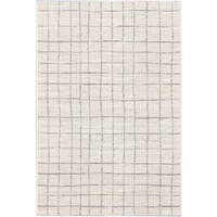 ecarpetgallery Frost Blue and Grey Stripe Viscose Rug (7'10 x 10'2)