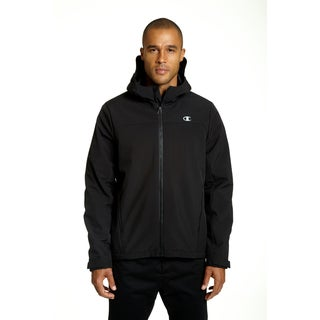 Champion Men's Black Polyester Softshell Insulated Midweight Jacket