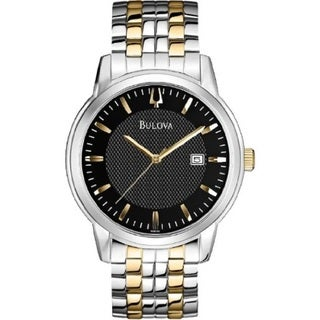 Bulova Men's 98B193 Stainless Steel Two Tone Date Watch with 30M Water Resistance