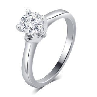Divina 14k White Gold 1ct TDW IGL Certified Diamond Engagement Ring (G-H, SI1-SI2)