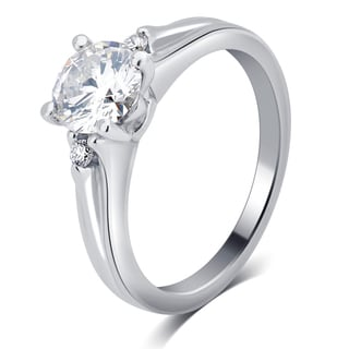 Divina 14k White Gold 1ct TDW Diamond Engagement Ring