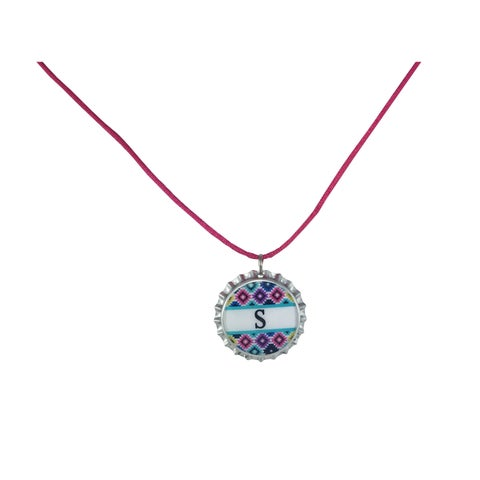 Be The Envy Bold Colored Chevron Initial Necklace