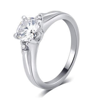 Divina 14K White Gold 1/2ct TDW Diamond Engagement Ring.
