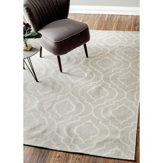 nuLOOM Flatweave Modern Geometric Printed Trellis Cotton Rug (9' x 12')