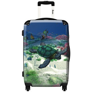 iKase 'Sea Turtle' 20-inch Fashion Hardside Carry-on Spinner Suitcase