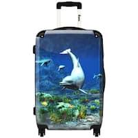 iKase 'Carpe Diem'  ,Carry-on 20-inch,Hardside, Spinner Suitcase