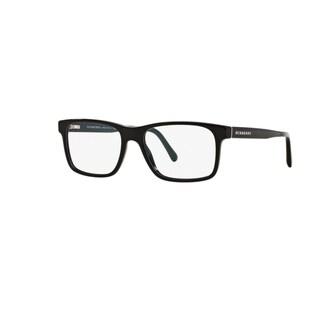 Burberry BE2198 3001 Black Plastic Rectangle Eyeglasses w/ 53mm Lens