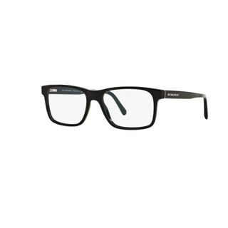 Burberry BE2198 3001 Black Plastic Rectangle Eyeglasses w/ 55mm Lens