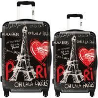 iKase 'Eiffel Tower Love Paris 2' 2-piece Fashion Harside Spinner Luggage Set