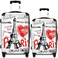 iKase 'Eiffel Tower Love Paris' 2-piece Fashion Harside Spinner Luggage Set