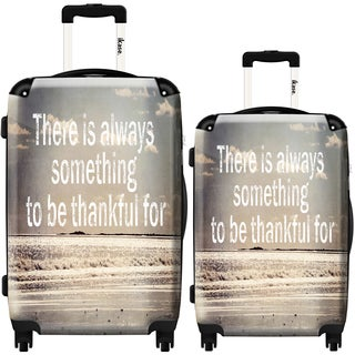 iKase 'Thankful' 2-piece Fashion Harside Spinner Luggage Set