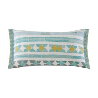 Echo Design Lagos Seafoam Cotton Oblong Throw Pillow