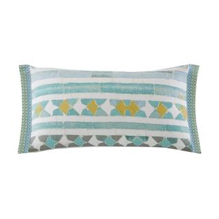 Echo Design Lagos Seafoam Cotton Oblong Throw Pillow