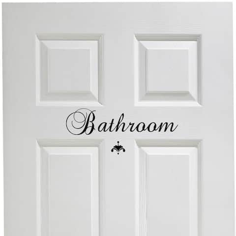 Bathroom Vinyl Door Decal