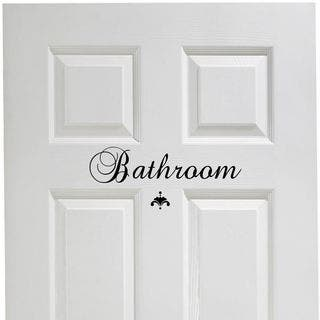 Bathroom Vinyl Door Decal|https://ak1.ostkcdn.com/images/products/12377473/P19201310.jpg?impolicy=medium
