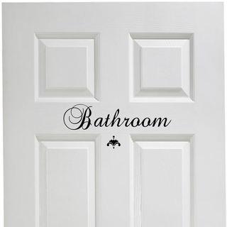 Bathroom Vinyl Door Decal