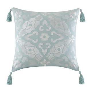 Echo Design Lagos Seafoam Cotton Square Throw Pillow