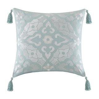 Echo Design Lagos Seafoam Cotton Square Throw Pillow