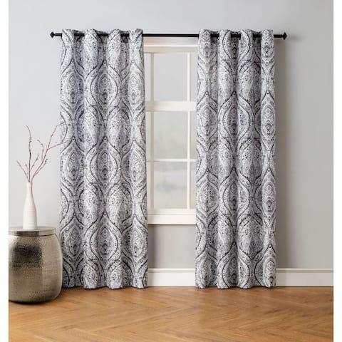 Avondale Manor Vera Damask Curtain Panel Pair