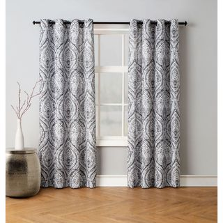 Avondale Manor Vera Damask Curtain Panel Pair
