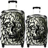iKase 'Skull 4' 2-piece Fashion Harside Spinner Luggage Set