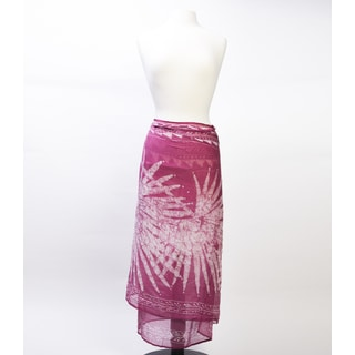 Cabana Sarong- Fuchsia Palms (India)