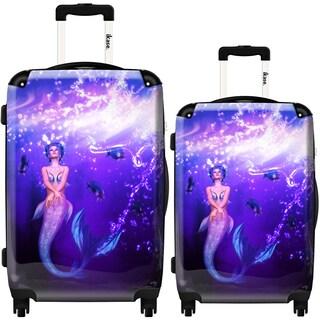 iKase 'Rainbow Mermaid' 2-piece Fashion Harside Spinner Luggage Set