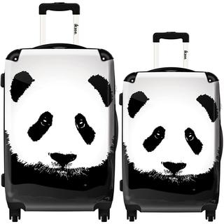 iKase 'Panda' 2-piece Fashion Harside Spinner Luggage Set