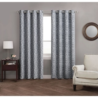 Avondale Manor Madera Damask Blackout Curtain Panel Pair