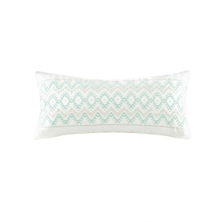 Echo Design Kalea White Cotton Oblong Throw Pillow