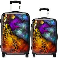 iKase 'Beauty and The Beast' 2-piece Fashion Harside Spinner Luggage Set