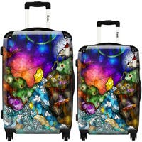 iKase 'Wonderland' 2-piece Fashion Harside Spinner Luggage Set