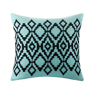 Echo Design Kalea Aqua Cotton Square Throw Pillow
