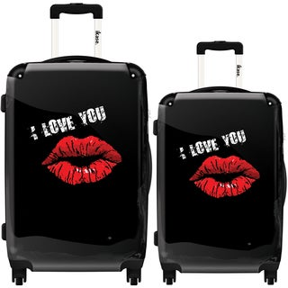 iKase 'Mouth I Love You' 2-piece Fashion Harside Spinner Luggage Set