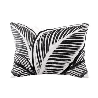 Echo Design Kalea Black/White Cotton Oblong Throw Pillow