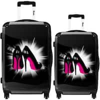 iKase 'Pink Soles' 2-piece Fashion Harside Spinner Luggage Set