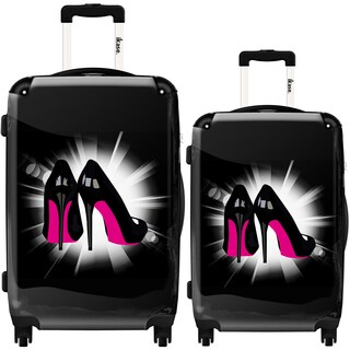 iKase 'Pink Soles' 2-piece Fashion Harside Spinner Luggage Set