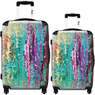 iKase 'Morning Has Broken' 2-piece Fashion Harside Spinner Luggage Set