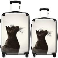 iKase 'Black Cat' 2-piece Fashion Harside Spinner Luggage Set