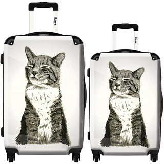 iKase 'Cat' 2-piece Fashion Harside Spinner Luggage Set