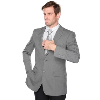 Verno Grey with Black Texture Classic Fit Men's Blazer
