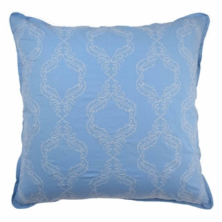 Waverly Over the Moon Blue and Yellow Patterned Euro Sham