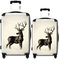 iKase 'Deer Black' 2-piece Fashion Harside Spinner Luggage Set