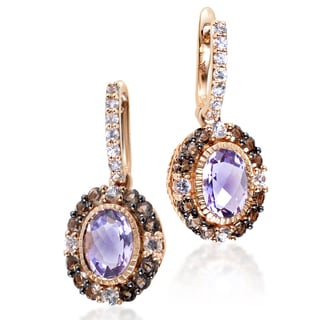 LeVian Women's 14K Rose Gold Multi-Stone Dangle Earrings